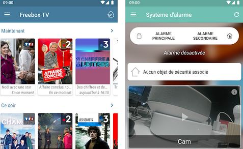 Application Android Freebox