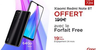 Forfait Free Mobile avec Redmi Note 8 offert